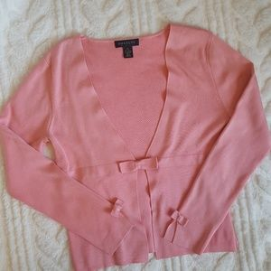 Harolds pink long sleeve cardigan with bows